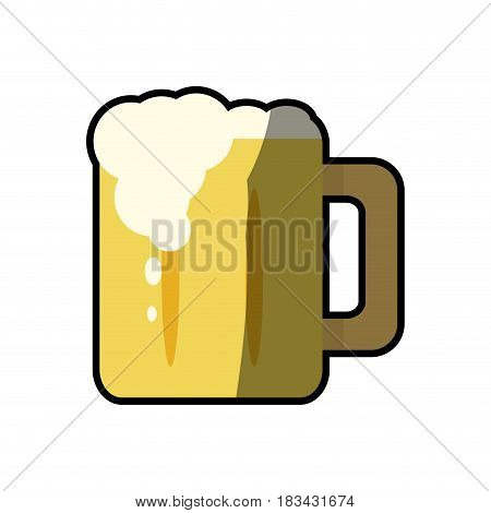beer glass cup foam cold fresh vector illustration