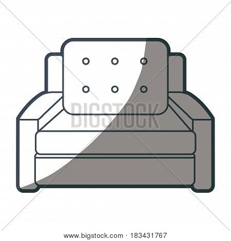 armchair cushions furniture home image shadow vector illustration
