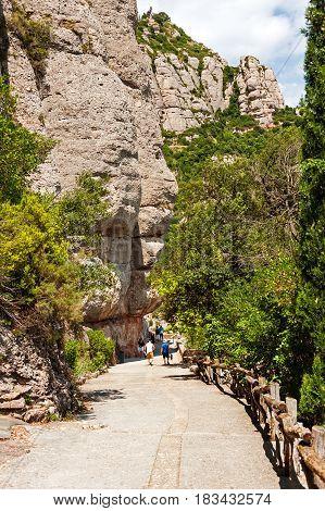 Monserrat mountain Benedictine Abbey near Barcelona, Spain