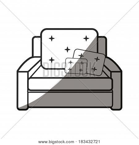 armchair cushions furniture home image vector illustration