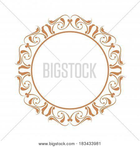 elegant frame heraldry ornate decoration element color vintage vector illustration