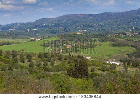 Idyllic Rural Landscape In Tuscany