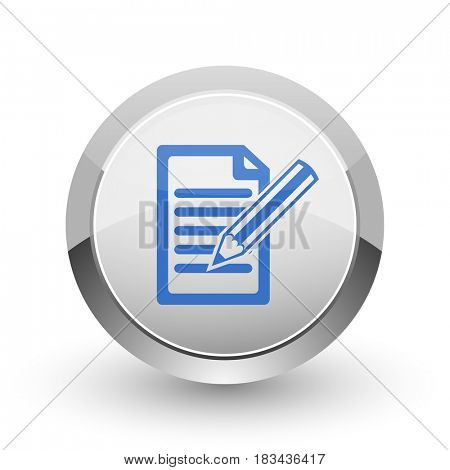 Subscribe chrome border web and smartphone apps design round glossy icon.
