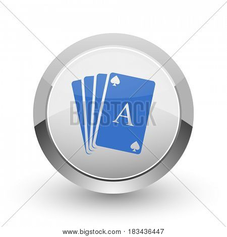 Card chrome border web and smartphone apps design round glossy icon.
