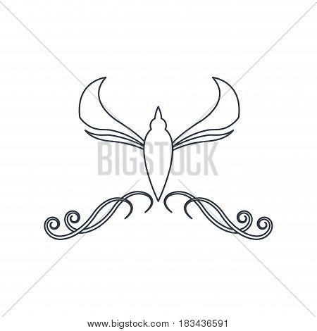 swirl vintage baroque ornament style line vector illustration