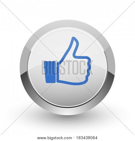 Like chrome border web and smartphone apps design round glossy icon.