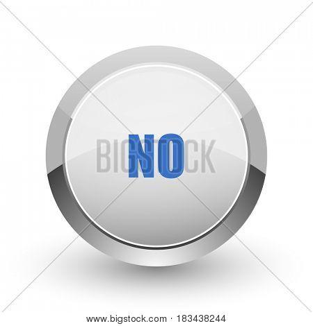 No chrome border web and smartphone apps design round glossy icon.