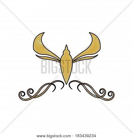 golden crest decoration elegant vignette image vector illustration