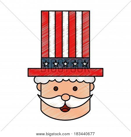 uncle Sam character icon vector illustration design