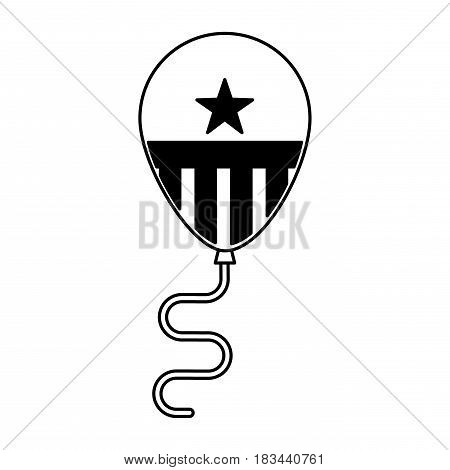 united states of america balloon air vector illustration design