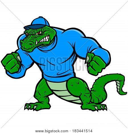 A vector illustration of a cartoon Gator.
