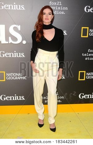 LOS ANGELES - APR 24:  Emily Tyra at the National Geographic's