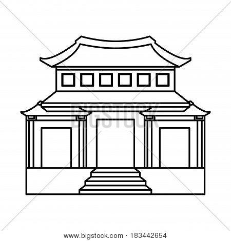culture japanese temple building vector illustration design