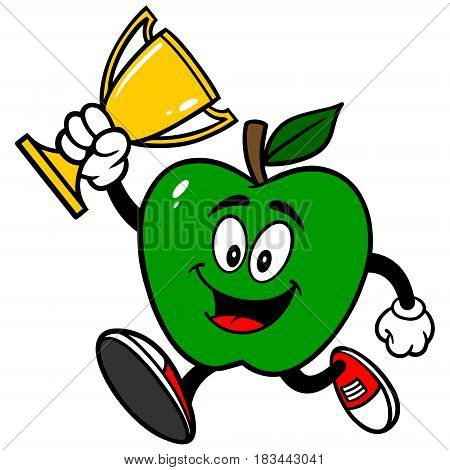 A vector illustration of a Green Apple.