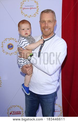 LOS ANGELES - APR 23:  Son, Gunnar Peterson at the Safe Kids Day at the Smashbox Studios on April 23, 2017 in Culver City, CA