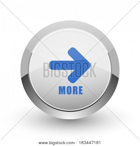 More chrome border web and smartphone apps design round glossy icon.