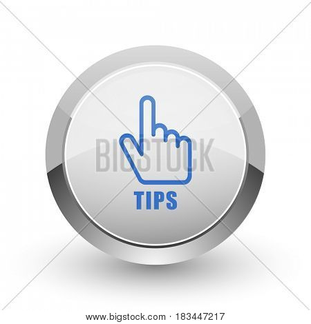 Tips chrome border web and smartphone apps design round glossy icon.
