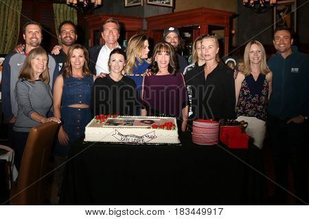 LOS ANGELES - APR 19:  Kate Linder, YnR Cast mates at the Kate Linder 35 Years on The Young and The Restless Celebration at CBS Television City on April 19, 2017 in Los Angeles, CA
