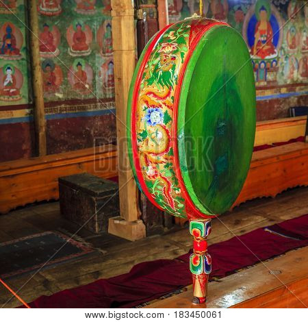 Ceremonial Buddhist drum