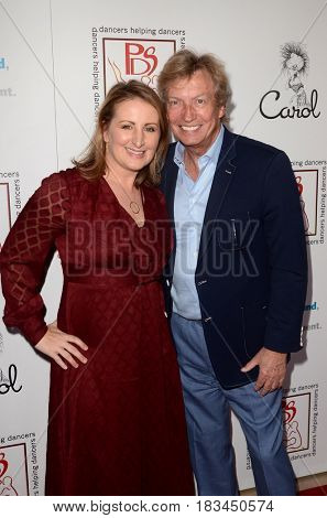 LOS ANGELES - APR 23:  Mandy Moore, Nigel Lythgoe at the Professional Dancers Society's 30th Gypsy Awards at the Beverly Hilton Hotel on April 23, 2017 in Beverly Hills, CA