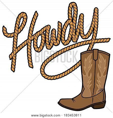 A vector illustration of a Cowboy Boot.