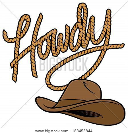 A vector illustration of a Cowboy Hat.