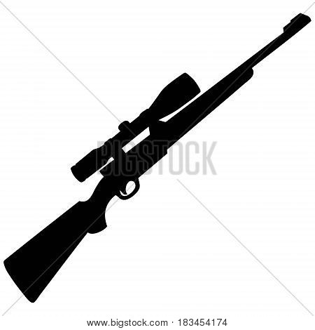 A vector illustration of a rifle silhouette.