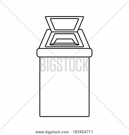 Trash can isolated icon vector illustration graphic design