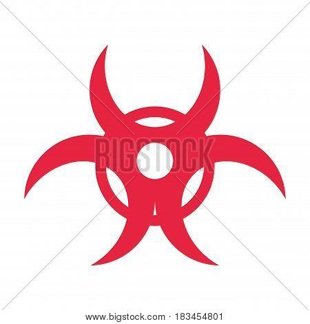Biohazard risk sign icon vector illustration graphic design