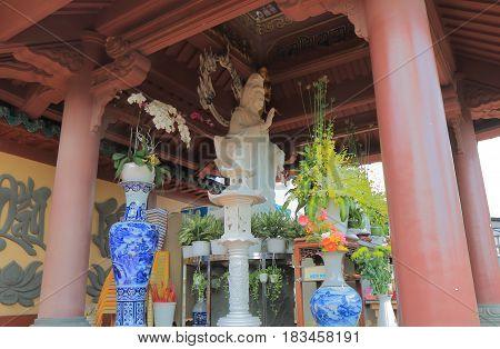 HO CHI MINH CITY VIETNAM - NOVEMBER 29, 2016: An Quang Pagoda Ho Chi Minh City Saigon Vietnam