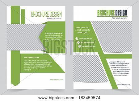 Green Brochure Template Flyer Design