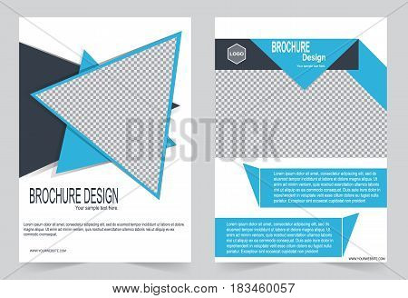 Blue Brochure Template Flyer Design