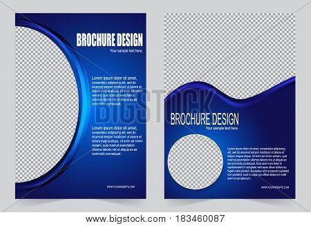 Royal Blue Brochure Template Flyer Design