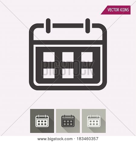 Calendar vector icon. Illustration isolated for graphic and web design.