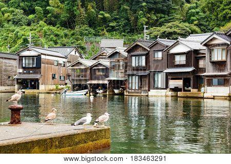 Seaside town in Ine-cho of Kyoto