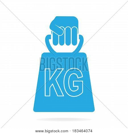 Hand holding with weight icon vector illustration
