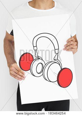 Earphone Headphone Listen Music Graphic