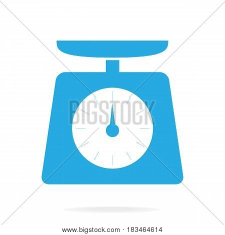 Weight scale icon symbol vector blue illustration
