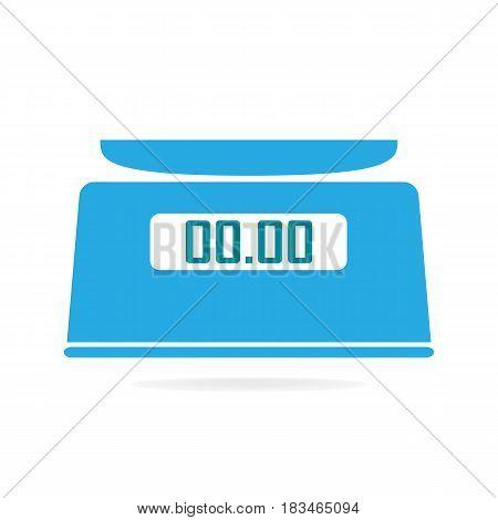 Digital scale icon symbol vector blue illustration