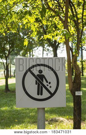 Littering Warning Signs