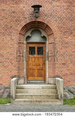 Small church door in a Danish church