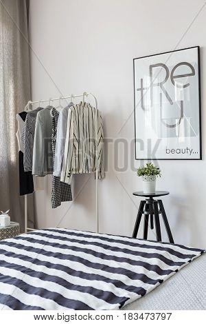 Clothes Hanger In Bedroom