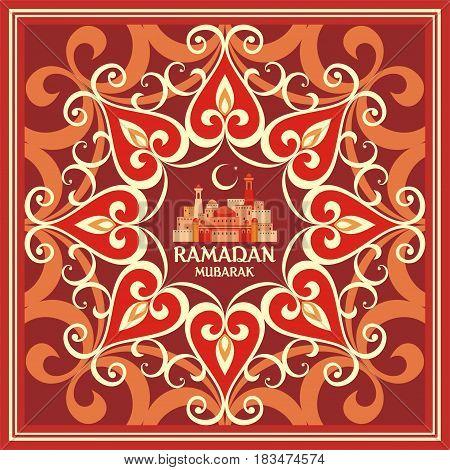 Ramadan Greeting Card Red.eps