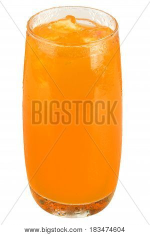aerated soft drink isolated on white background.