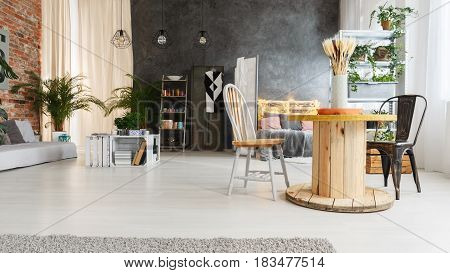Upcycled Interior Of Loft