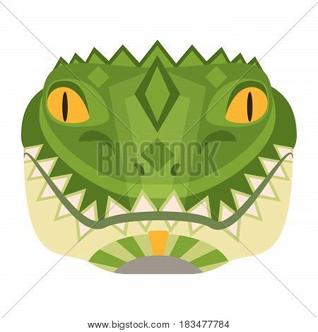 Crocodile Head Logo. Alligator vector decorative Emblem