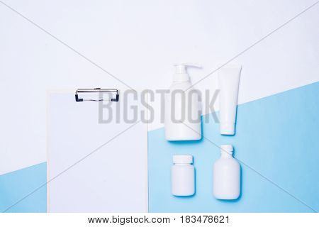Cosmetics Packaging Spa And Beauty Set Mock-up On Color Background