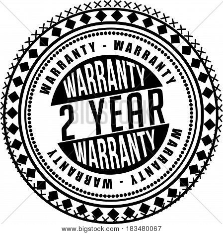 2 years warranty label icon vector background