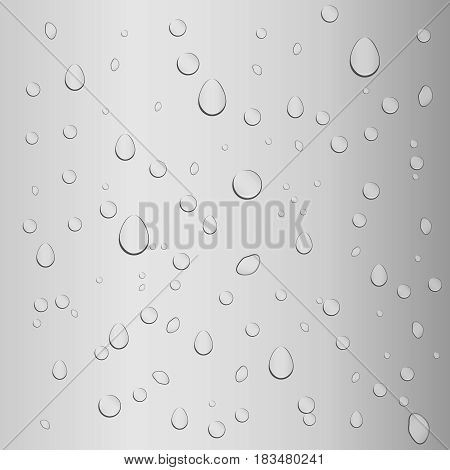 Drops of water on the glass condensation. Flat design vector illustration vector.