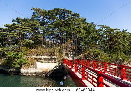Matsushima and red bridge
